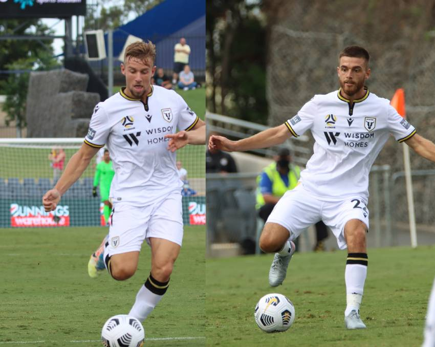 Michael Ruhs and Liam Rose made their Macarthur FC debut on Saturday January 3, 2020 in front of the home crowd. Photo: supplied.