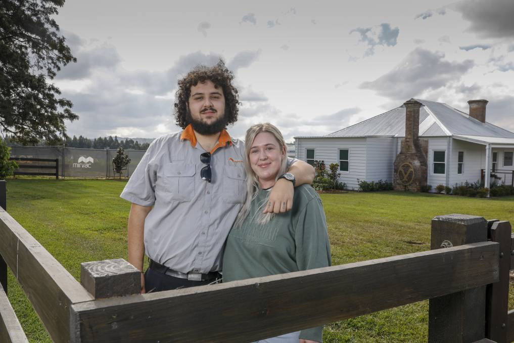 Emily Pedder and Gabriel Tawagi bought a block of land at The Village Menangle, the first step in building their first home. Picture: Supplied