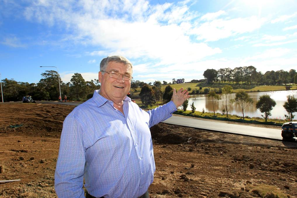 Campbelltown mayor Paul Lake at the site of the proposed business park. Picture: Jeff de Pasquale